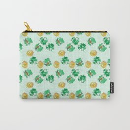 Luck Shamrock St. Patricks Day Pattern Carry-All Pouch