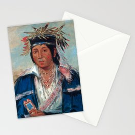 Kee-mo-rá-nia, No English, a Dandy by George Catlin Stationery Cards