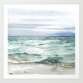 Oceanscape of Anna Maria Island Florida. Art Print