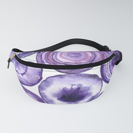 Purple agate pattern watercolor Fanny Pack