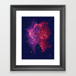 Universes Collide Framed Art Print
