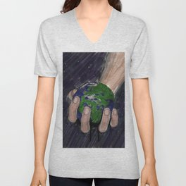 Death of a Small Planet Unisex V-Neck
