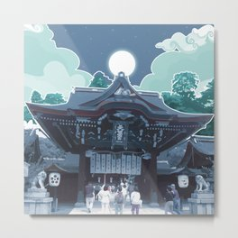 Night in Japan Metal Print