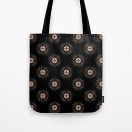 Beige Cross Flower Pattern Tote Bag
