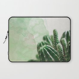 Cacti Green Watercolor Laptop Sleeve