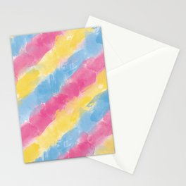 Pan Watercolor Pride Stationery Cards