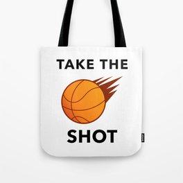 Take The Ball Shot Tote Bag