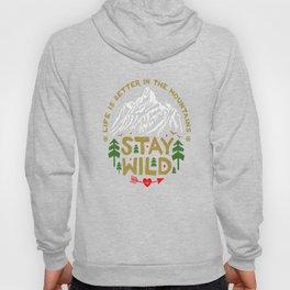 Stay Wild black Hoody