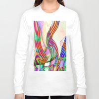 techno Long Sleeve T-shirts featuring techno-doodle by David  Gough