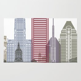 Baltimore skyline poster Rug