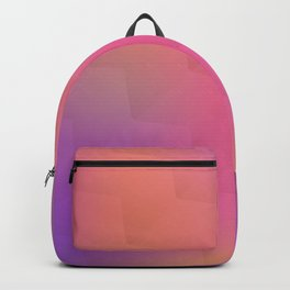 Colorful geometric background. Blurred pattern Backpack