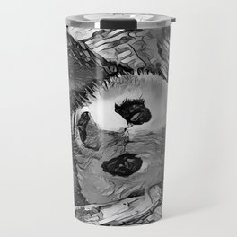 AnimalArtBW_Panda_20170602_by_JAMColorsSpecial Travel Mug