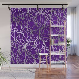 Pattern and Light purple silver Wall Mural