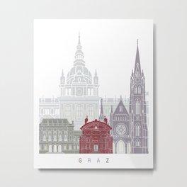 Graz skyline poster Metal Print