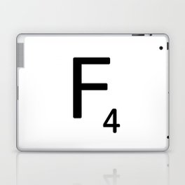 Letter F - Custom Scrabble Letter Tile Art - Scrabble F Laptop & iPad Skin