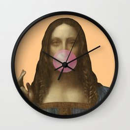 Salvator Mundi Chewing Bubblegum (Leonardo da Vinci)  Wall Clock