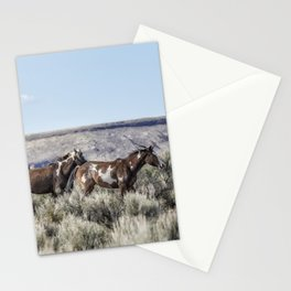 Horses Running On Steens Mountain Stationery Cards