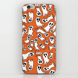 Spooky Ghost Halloween Doodle Pattern iPhone Skin