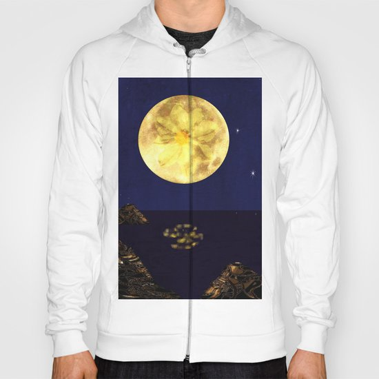Yellow Dahlia Moon Hoody