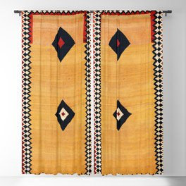 Qashqa'i Fars Southwest Persian Kilim Print Blackout Curtain