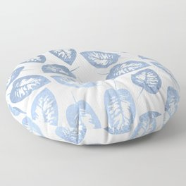 Blue leaves pattern Floor Pillow