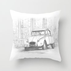 Citroen 2 CV - Deux Chevaux Throw Pillow