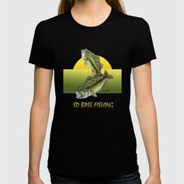Two Largemouth Bass - Above And Below T-shirt