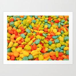 Candy Fish Art Print