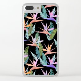 Birdie Tropical Black Clear iPhone Case