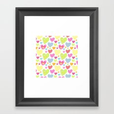 spring hearts Framed Art Print