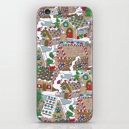 Gingerbread Village iPhone Skin