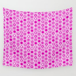 Geo Mini Collection 17 Hot Pink Flower Wall Tapestry