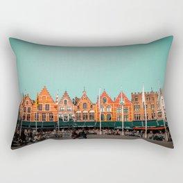 Bruges Cityscape Rectangular Pillow