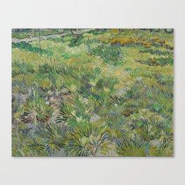 Long Grass with Butterflies Canvas Print