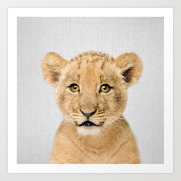 Baby Lion - Colorful Art Print