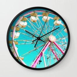 Pastel Ferris Wheel Wall Clock