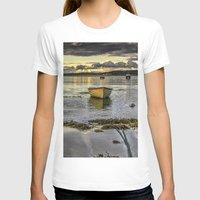 rowing T-shirts featuring Sheephaven bay by cmphotography