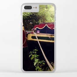 Canal Narrow Boat Clear iPhone Case