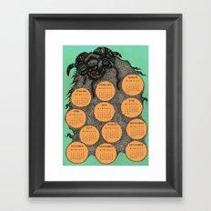 Sheep Calendar 2015 Framed Art Print