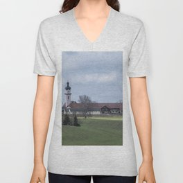 View on Peter and Paul church Laupheim-Germany Unisex V-Neck