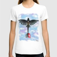 hiccup T-shirts featuring Hiccup and Toothless Flying from How to Train your Dragon 2 by Brietron Art