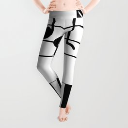 Music Notes with Piano Keyboard Leggings