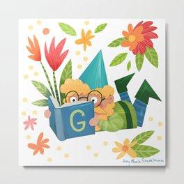 Book Gnome Metal Print