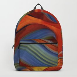 """Spring and Summer Colorful Abstract Agate"" Backpack"