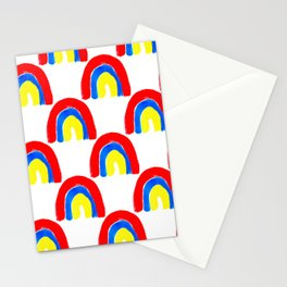 Watercolor Primary Rainbows Repeat Stationery Cards