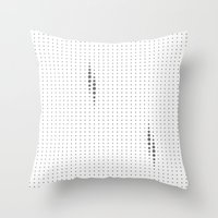 dots Throw Pillows featuring Dots by rob art | simple