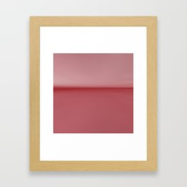 Soft Blush Pink Two Toned Abstract Framed Art Print
