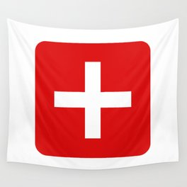 Swiss flag Wall Tapestry
