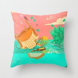 FLOOD MESS Throw Pillow