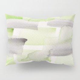 4   | 190301 Watercolour Painting Abstract Pattern Green Black Grey Pillow Sham